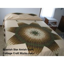 Spanish Lone Star Amish Quilt
