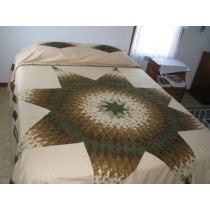 Amish Quilts | Spanish Lone Star Quilt