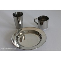 Heavy Stainless Dish Place Setting