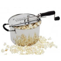Stainless Steel Popcorn Popper Pops Fully
