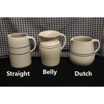 USA Pottery | Stoneware Pitchers Blue Stripe