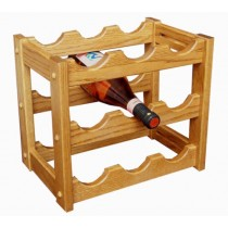 Wine Holder | 9 Bottle Table Top Wine Rack Oak