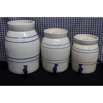 USA Stoneware | Water Coolers | Blue Stripe | 1-3 Gallon