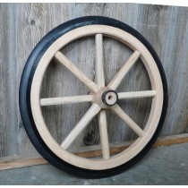 Small Wood Spoke Wagon Wheel With Rubber