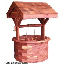 Ornamental Cedar Wishing Well Planter