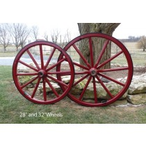 Large Wood Spoke Wagon Wheels 32-36 Inch