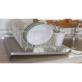 Stainless Steel Kitchen Sink Open Back Drainboard