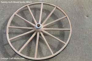 "20"" Wood Spoke Wagon Wheel"