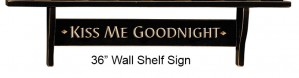 Inspirational Wall Shelf | Country Wall Shelf 36 Inch