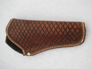 45 Cal Fancy Tooled Belt Holster | Leather Holsters