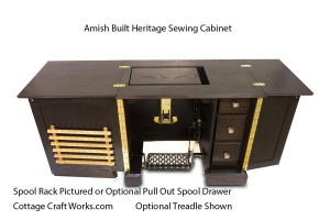 Amish Built Heritage Sewing Cabinet