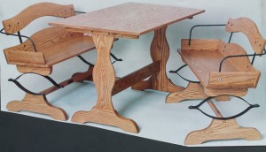 Our Buckboard Bench Table Set Plans- With Hardware Kit