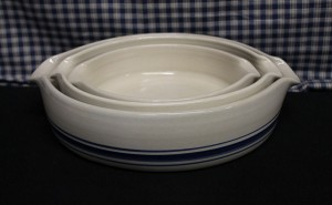 USA Stoneware Pottery |  Baking Dish Set of Three