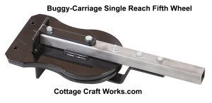 Single Reach Buggy, Carriage Fifth Wheel Assembly
