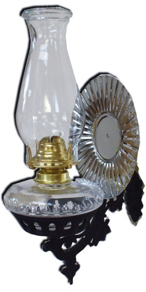 Old Fashioned Oil Wall Lamp