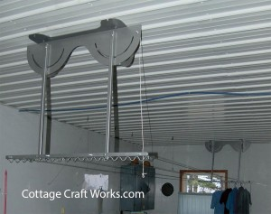 Ceiling Mounted Retractable Clothesline System