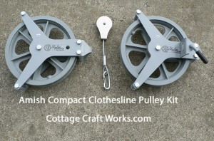 Amish Compact Clothesline Pulley Kit