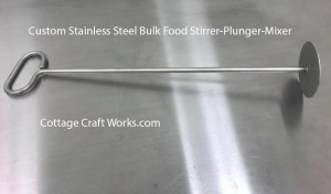 Handheld Solid Stainless Stirrer-Mixer-Plunger