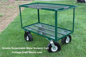 Double Shelf Expandable Metal Nursery Cart