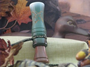 Wood Duck Calls | Hardwood Duck Call Green Glaze