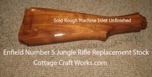 Replacement stock for Enfield Number 5 Jungle Rifle