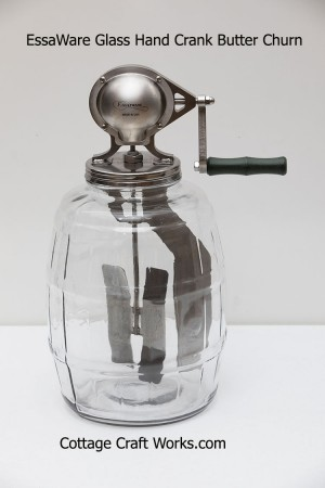 EssaWARE Glass Hand Crank 2.5 Gal. Butter Churn