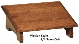 Mission Style Ergonomic Designed Slanted |  Footstool | Footrest