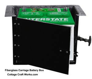 Horse Carriage, Buggy 12-Volt Battery Box