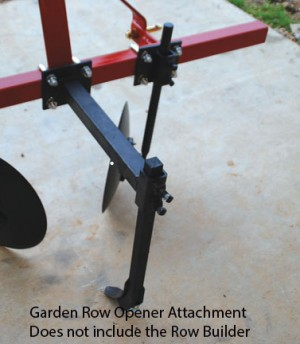 Garden Row Opener Attachment