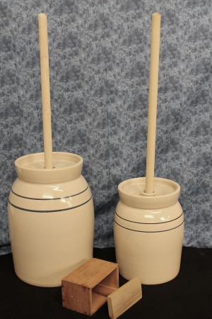 USA | Stoneware Butter Churn | 2-3 Gallon