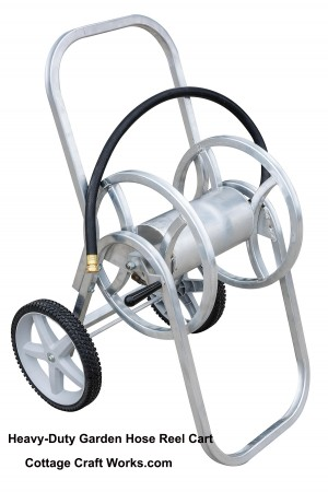 Heavy-Duty Aluminum Garden Hose Reel Cart