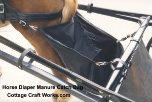 Horse Diaper Manure Catcher Bag