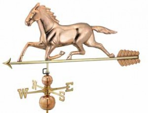Running Horse Copper Weathervane