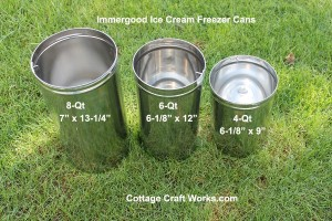 Immergood Stainless Steel Ice Cream Freezer Cans