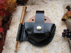 Leather Friction Pot Turkey Call Holster   Pouch