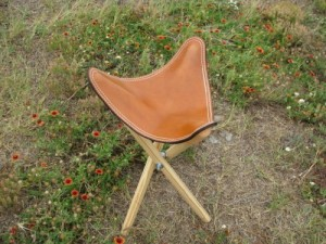 Leather Top Sports Stool Plain