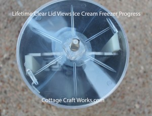 Lifetime Ice Cream Maker, Freezer Clear Poly Can Lid