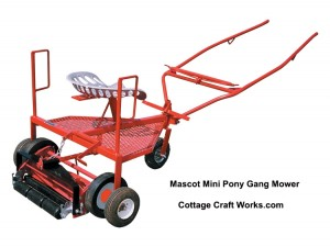 Mini Pony Gang Reel Mower