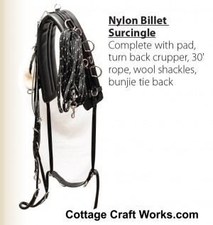 Nylon Billet Surcingle Harness