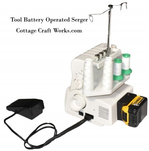 Tool Battery Powered Portable Sewing Serger Machine