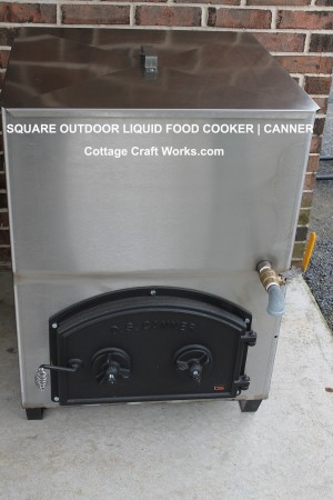 Square Outdoor Liquid Food Cooker-Canner