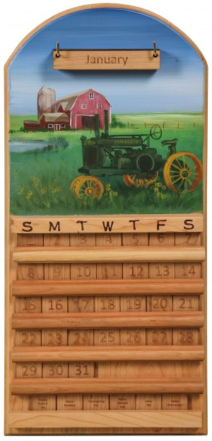 Perpetual Calendar Antique Tractor Theme