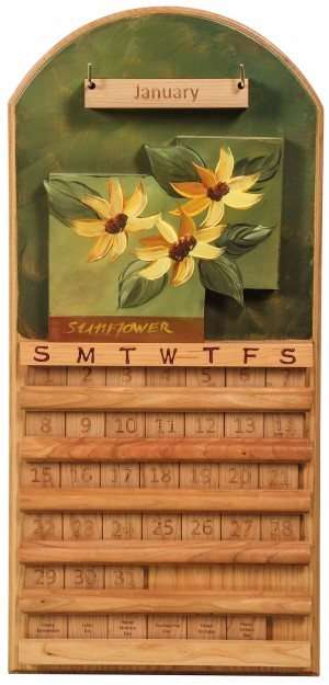 Perpetual Calendar Sunflower Theme