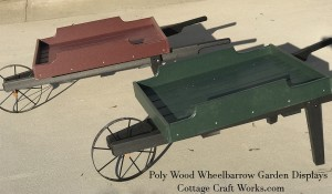 Poly Wood Ornamental Wheelbarrows