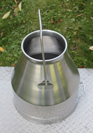 USA Amish Made Stainless 22 Qt Milker Bucket