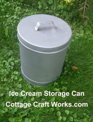 Stainless 12-qt, 20-qt Ice Cream Container