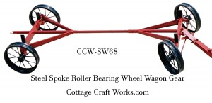 Steel Spoke Roller Bearing Wheel Wagon Gear