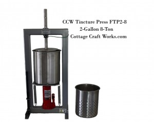 Tincture Press 2-Gallon, 8-Ton Oil, Herb, Press