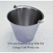 USA Heavy Seamless Stainless 13-qt Milk Pail