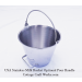 USA Heavy Seamless Stainless Milk Pail With Optional Pour Handle